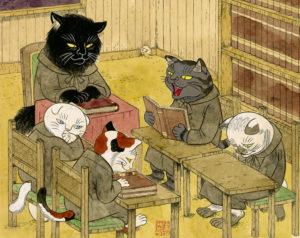 猫の事務所  (原画) 260×330㎜