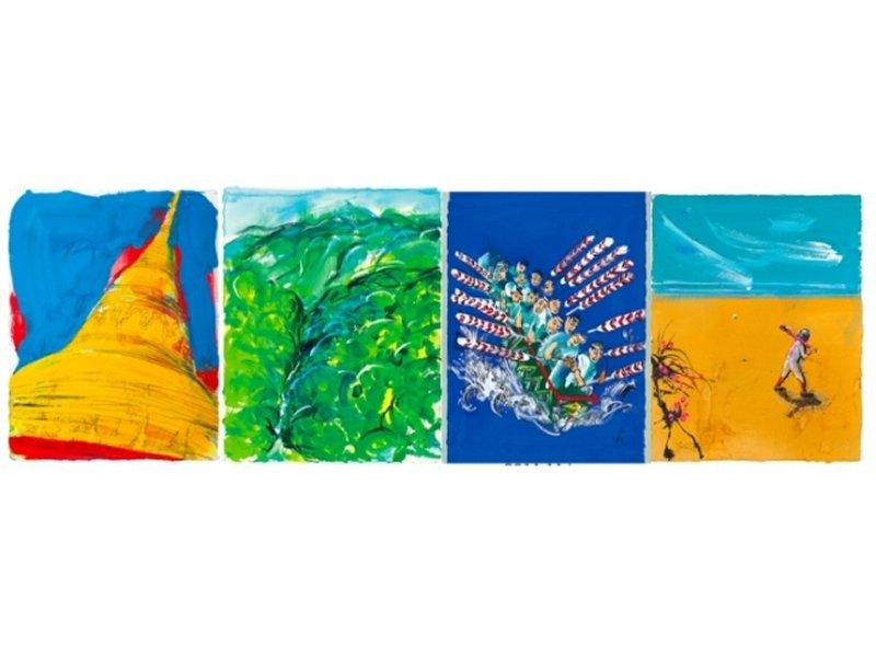 【東京】画家・堀越千秋 ANA機内誌『翼の王国』表紙原画展:2016年9月1日(木)~10日(土)